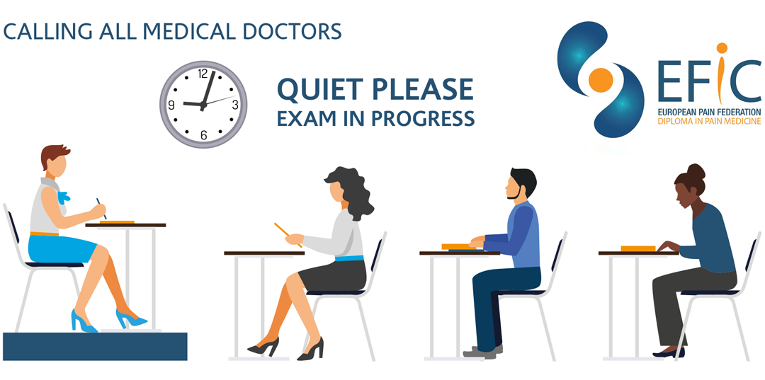 Take Part 1 of the Examination for the European Diploma in Pain Medicine (EDPM) at #EFIC2019 congress in Valencia