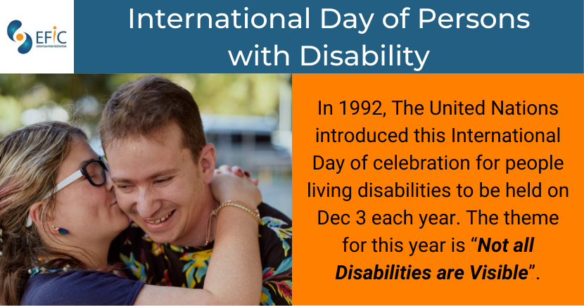 International Day of People with Disabilities: 3 December 2020