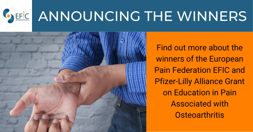 Lifelong Education in Pain Associated with Osteoarthritis Grant: Winners Announced