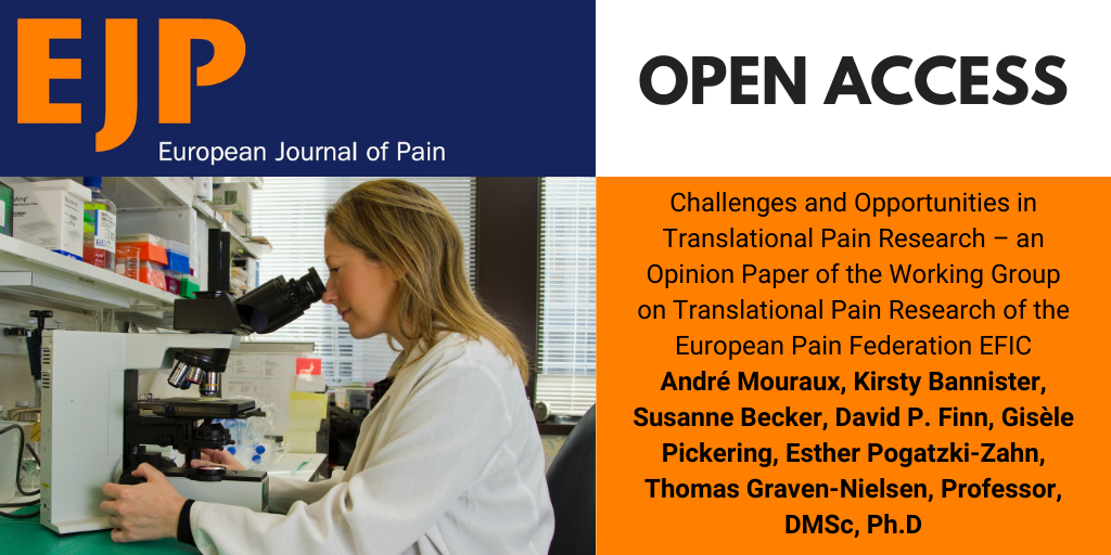 Challenges and Opportunities in Translational Pain Research